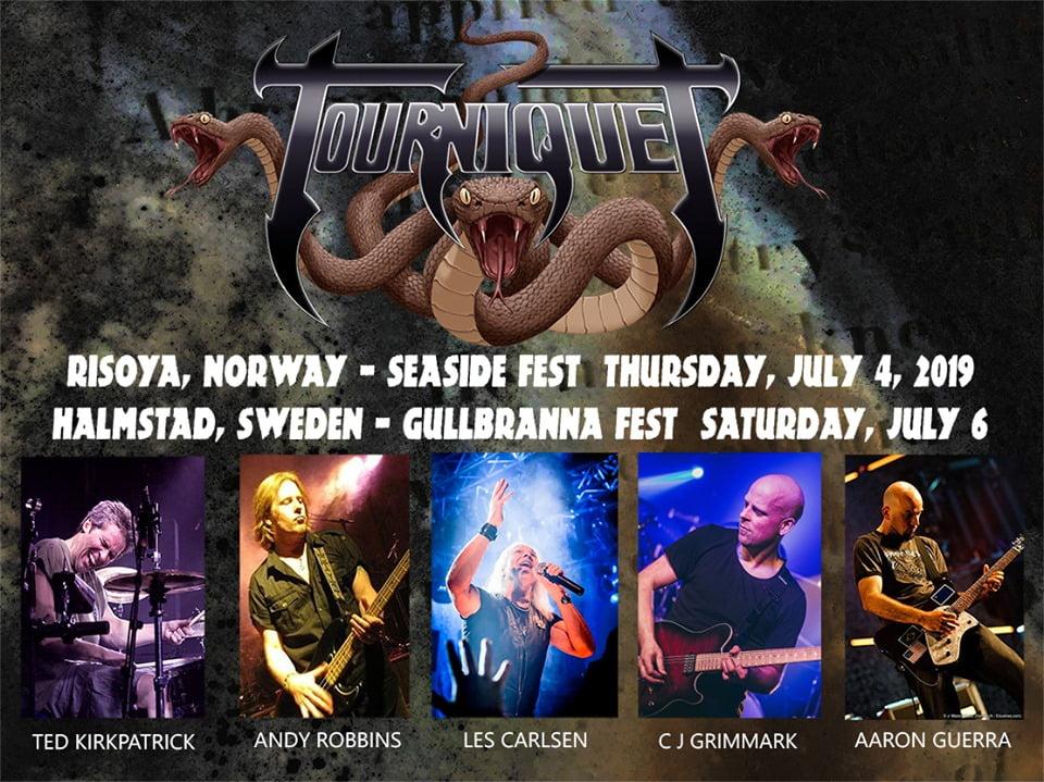 Tourniquet: banda inaugura nova formação nos palcos
