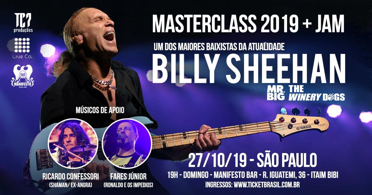 Ricardo Confessori convida para o show com Billy Sheehan em SP neste domingo