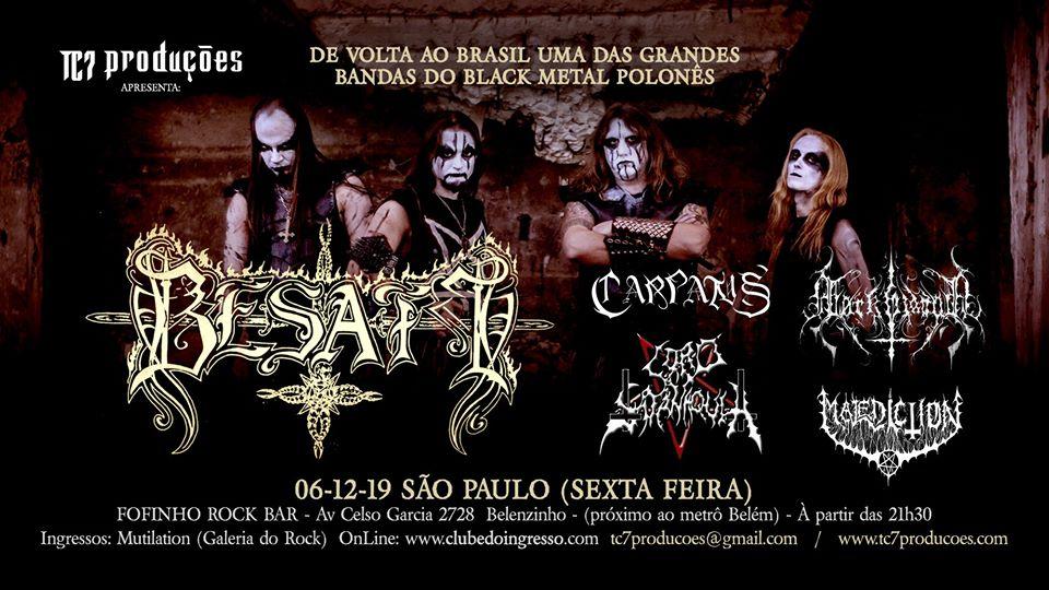 Besatt: Show no Fofinho Rock Club nesta sexta