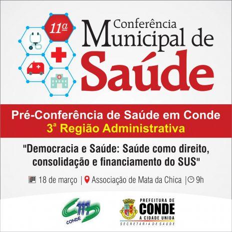 Pré Conferência Municipal de Saúde 1 465x465 - Conselho Municipal de Saúde de Conde inicia pré-conferências para a 11º Conferência Municipal de Saúde