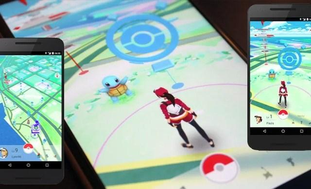 pokemon go squirtle smartphone