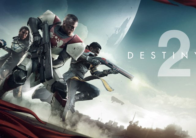 Destiny 2 KeyArt com os personagens e as subclasses