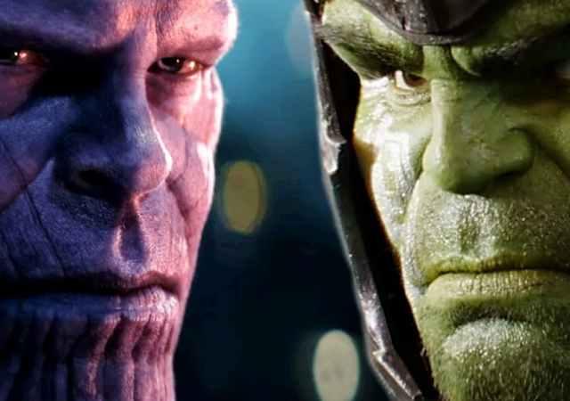 Thanos vs Hulk Avengers Infinity War