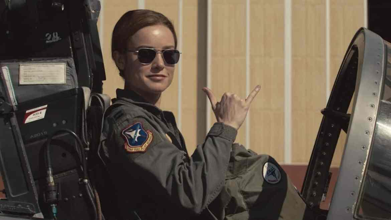 Jet pilot captain marvel carol danvers