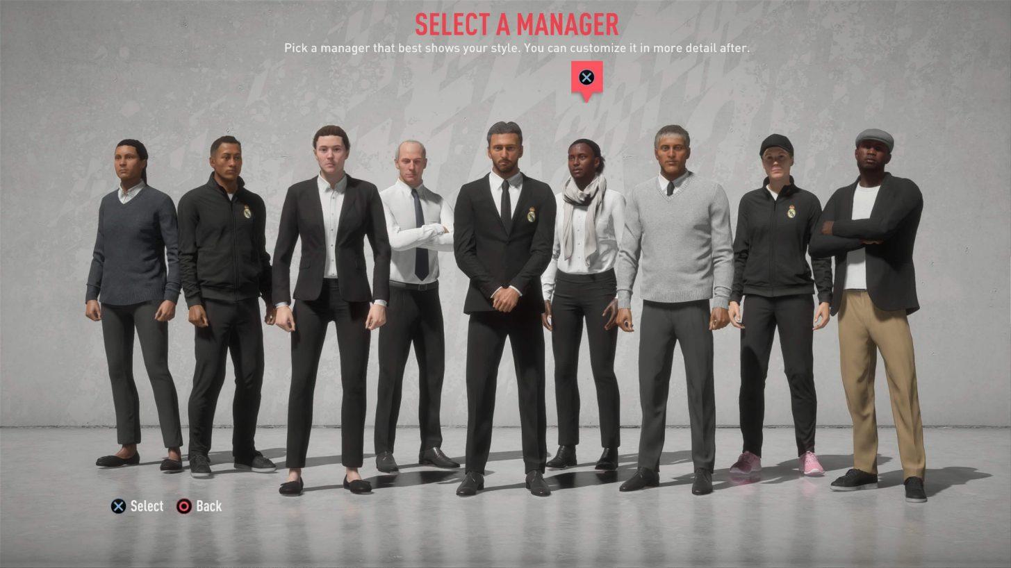 FIFA20CareerMode manager select