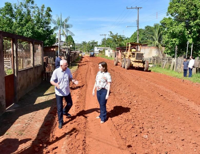 Socorro Neri vistoria obras no Taquari, Bom Jesus e Recanto dos Buritis