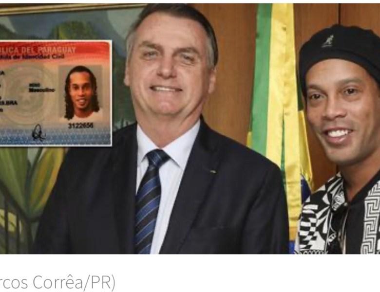 Ronaldinho Gaúcho, embaixador do turismo de Bolsonaro, é preso no Paraguai por uso de passaporte falso