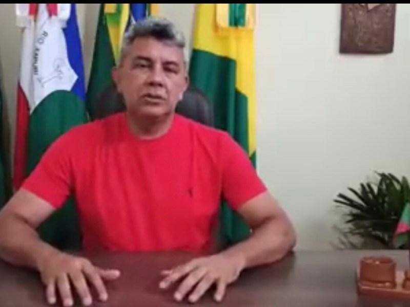 Prefeito de Xapuri anuncia que a cidade tem dois casos confirmados de coronavírus