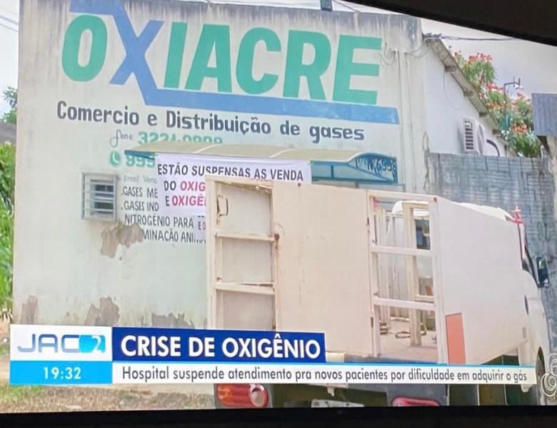 FALTA DE AR: Oxigênio para hospitais do Acre pode acabar na próxima semana, diz empresa fornecedora