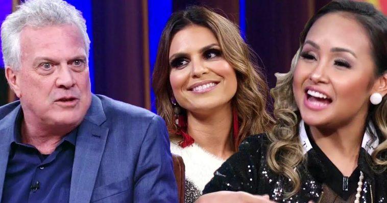 Pedro Bial entrevista Aline Barros e Bruna Karla.