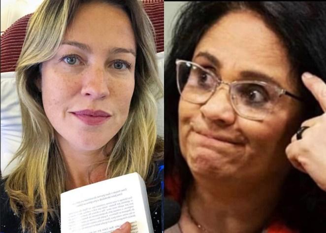 Luana Piovani critica a ministra Damares Alves por fala sobre Bob Esponja.