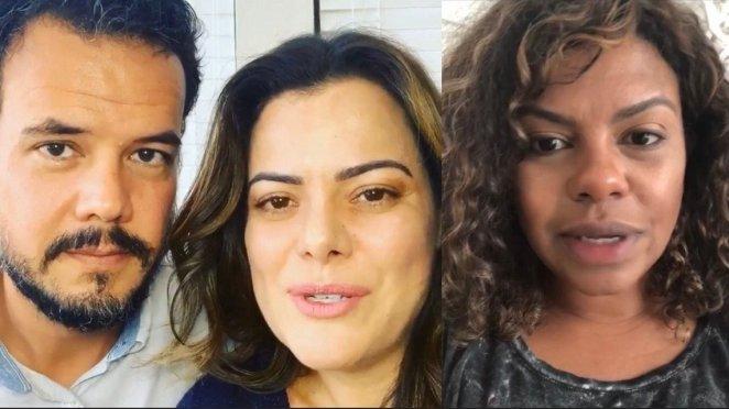 Pr. Gustavo Bessa e as cantoras gospel Ana Paula Valadão e Nívea Soares.
