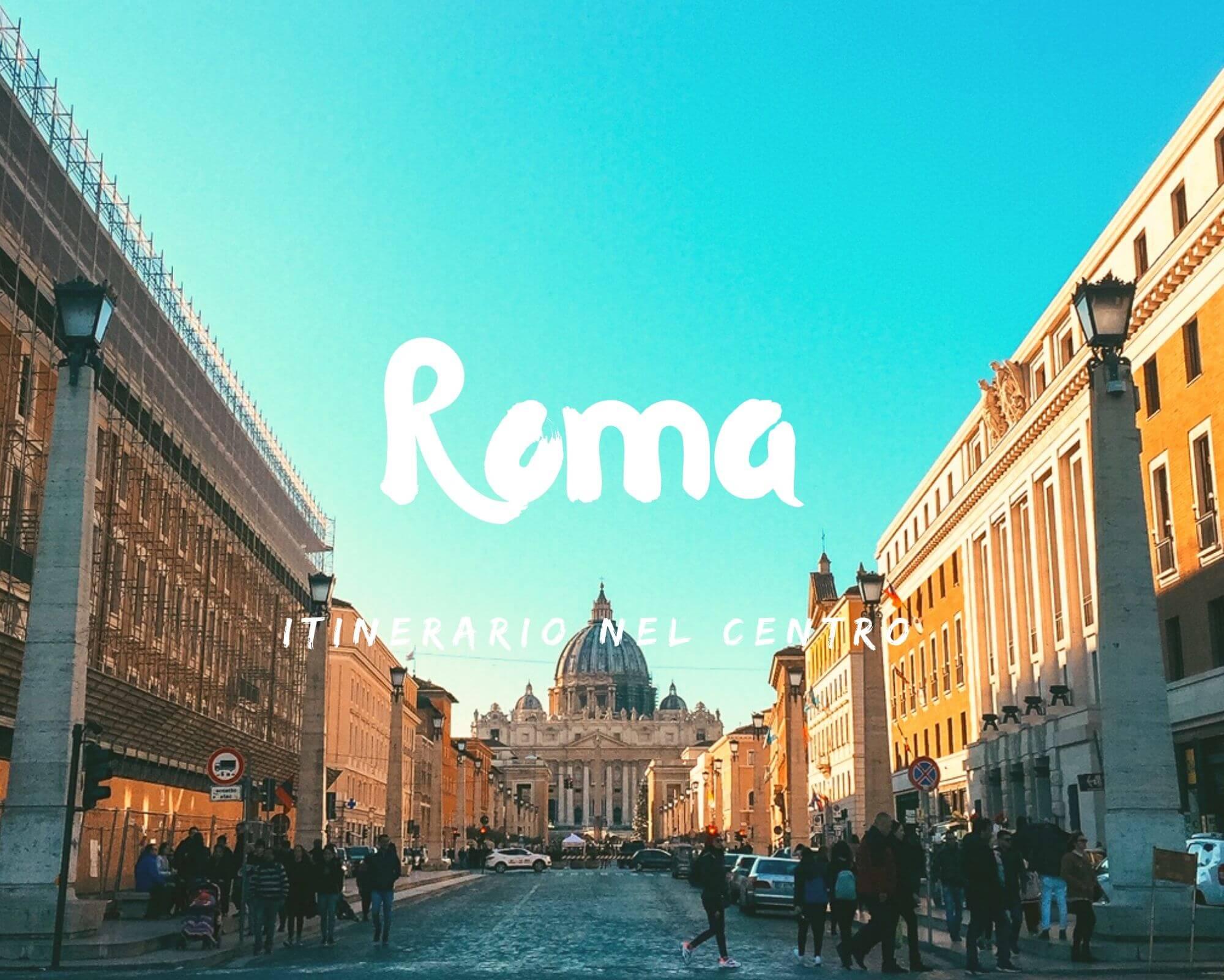 Itinerario nel centro di Roma a piedi