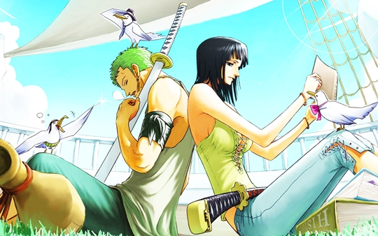 One Piece Wallpaper Zoro Robin
