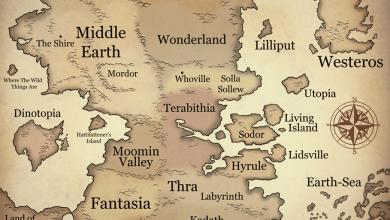 Photo of O mapa dos mundos fantásticos! [FanArt]