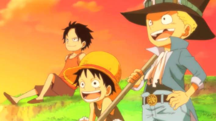 luffy-ace-and-sabo, amigos
