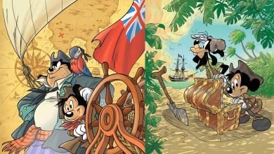 Foto de Prévia de 11 páginas | Mickey e a adaptação de A Ilha do Tesouro!