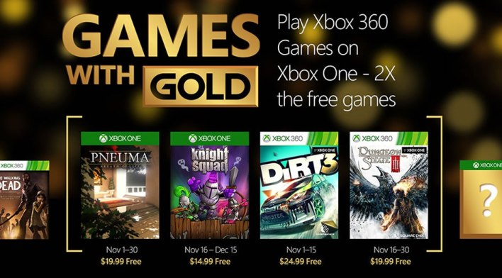 Games with Gold Novembro 2015