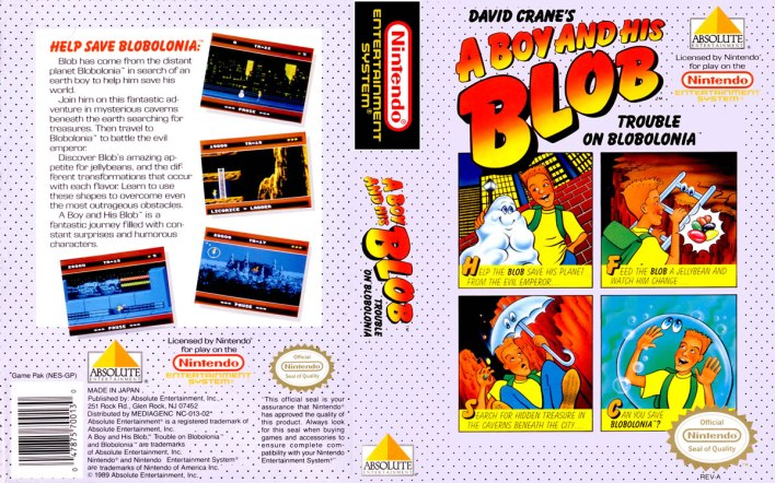 A Boy and His Blob Trouble on Blobolonia - NES - 1989
