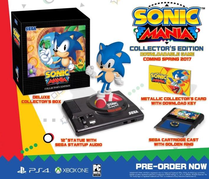 Sonic Mania Edição de Colecionador