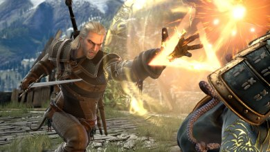Foto de Geralt de Rivia entra no palco da história em SOULCALIBUR VI