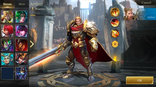Arena of Valor Character Select - Arthur