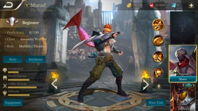 Arena of Valor Character Select - Murad