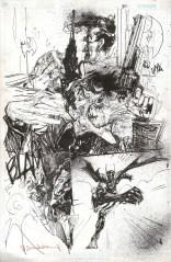 First Batgirl Joker 1 pág 30 arte original por Bill Sienkiewicz