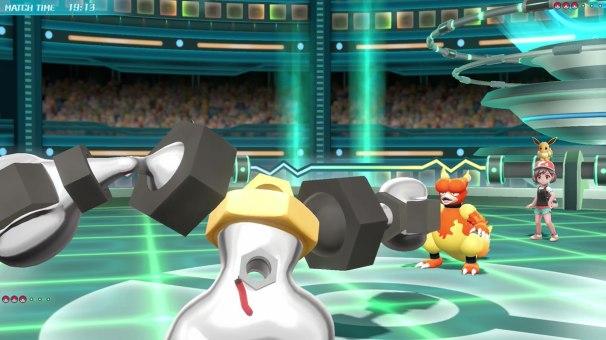 Melmetal Battle Screen 2 - Pokemon Lets Go