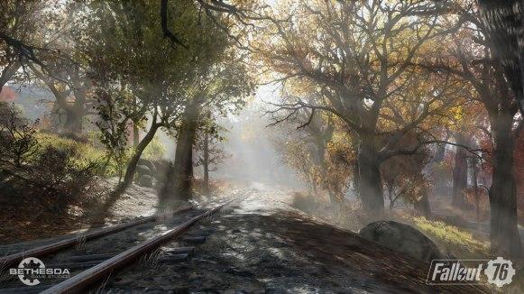 Fallout 76 ForestRailroad