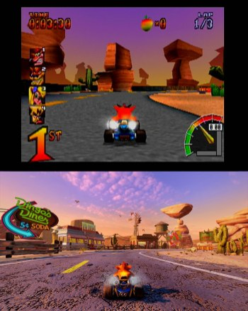 Crash Team Racing Nitro-Fueled Comparacao 1