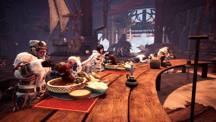 Monster Hunter World Iceborn - Seliana Gathering Hub - Canteen
