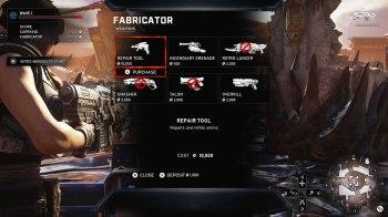 Gears 5 Horda - HUD Fabricator