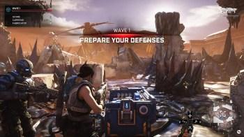 Gears 5 Horda - HUD Prepare Defences