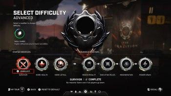 Gears 5 Horda - Lobby Select Difficulty