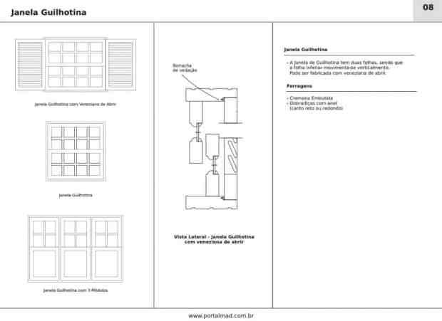 Janela guilhotina de madeira - Esquadrias - Alto padrão - Portalmad
