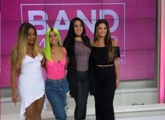 Cariúcha, Júlia Peixoto, Suzanna Freitas participam do programa Band Mulher da apresentadora Gardênia Cavalcante/ Foto: Divulgação/ DGN Assessoria