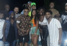 Mc Gabi com os participantes da gravação de seu DVD