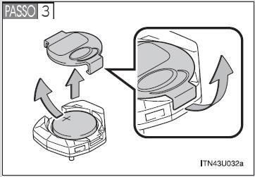 Toyota Etios: Bateria do controle remoto da chave