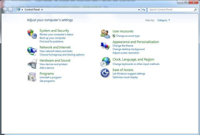 Cambiar la vista de iconos del Panel de Control - Windows 7