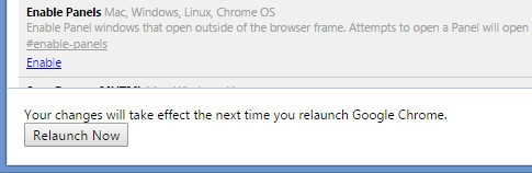 Relaunch Chrome