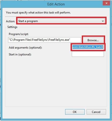 FreeFileSync - Crear respaldo de archivos - Llenar rutas