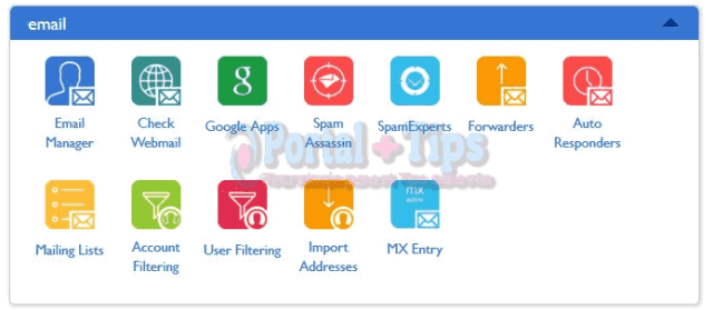 bluehost-cpanel-email-menu