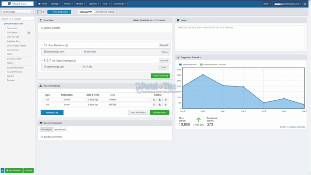 bluehost-cpanel-manage-wp