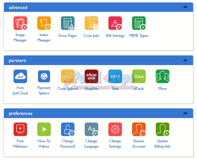 bluehost-cpanel-other-menu