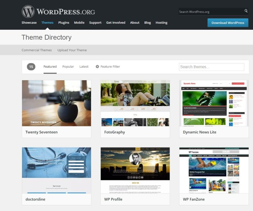Wordpress plantillas