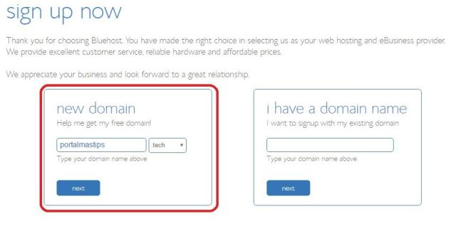 Bluehost iniciar un blog paso a paso dominio