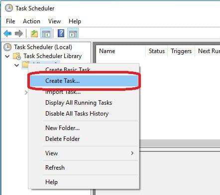 Crear tarea programada en windows crear nueva tarea
