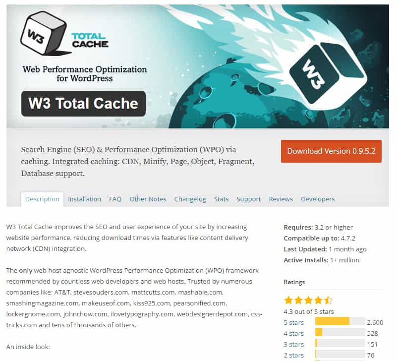 W3 total cache repositorio