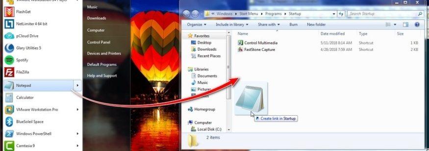 Programa inicio automatico en Windows